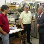 מימין לשמאל: אלכס מולר, יוסי ישורון, שוקי וולפוס
