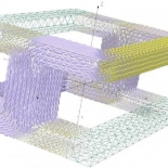 Magnetic field distribution in an FCL model
