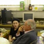 Right to left: Alex Muller, Beena Kalisky, Yosi Yeshurun