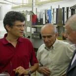 Right to left: Yosi Yeshurun, Alex Muller, Alex Friedman, Shuki Wolfus